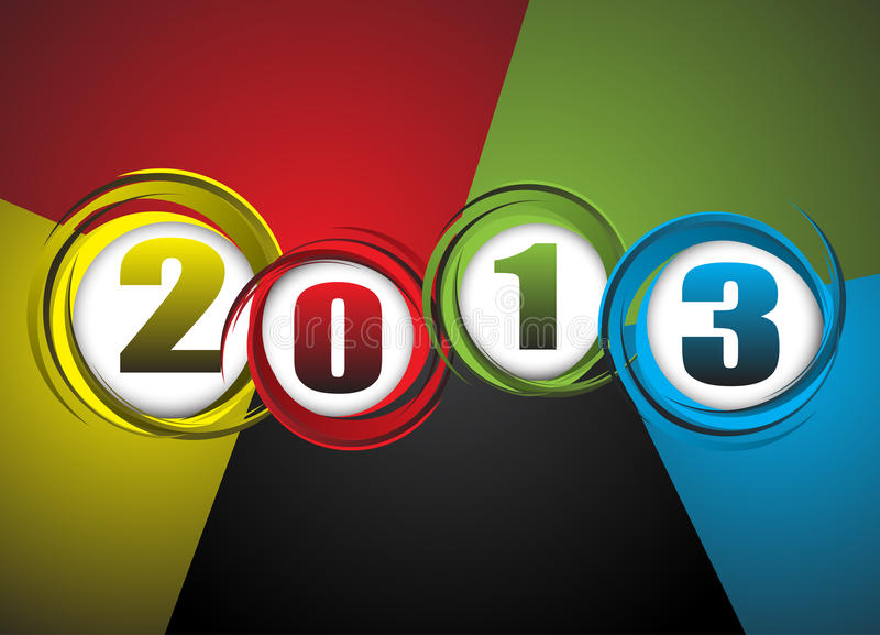 New Year theme abstraction vector illustration