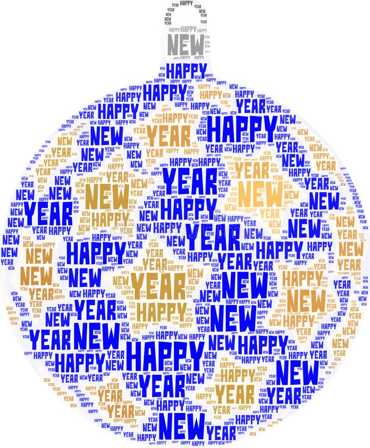 New Year theme word cloud royalty free stock photo