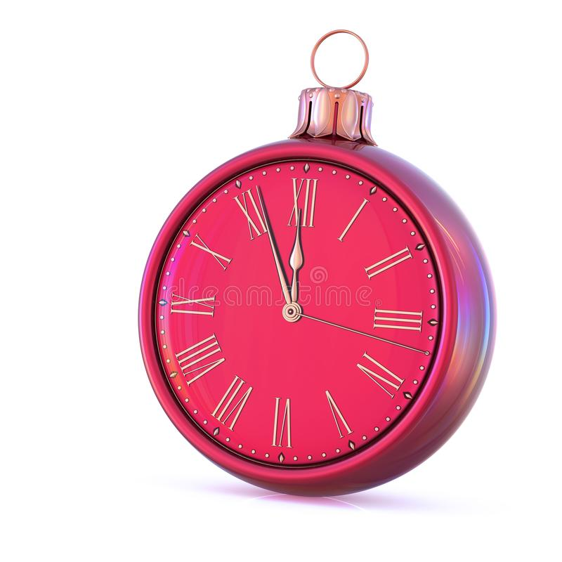 New Year time 12 clock midnight last hour countdown pressure stock photos