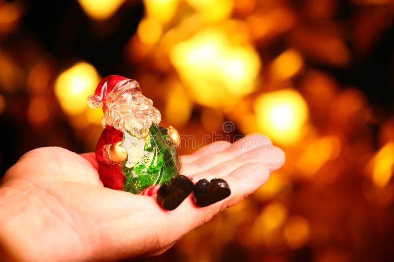 New year toys adult man hands stock images