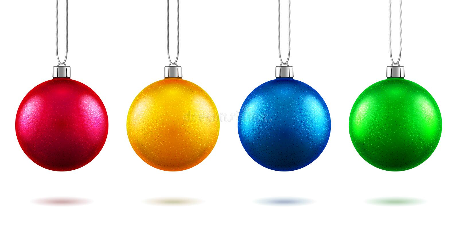 2019 new year toys or christmas baubles vector illustration