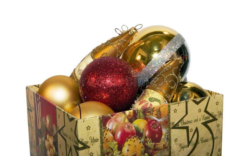 New-Year tree decorations stock image