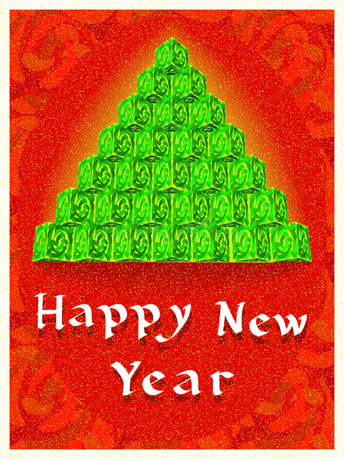 Download New Year tree stock vector. Image of fur, shine, congratulation - 34751242