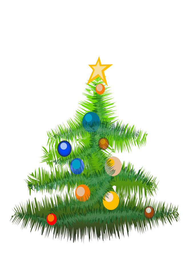 Download New Year Tree(Great For Banner And Card) Stock Illustration - Illustration of tree, color: 1265385