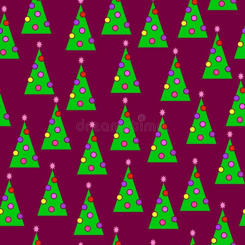 New-year trees stock photo