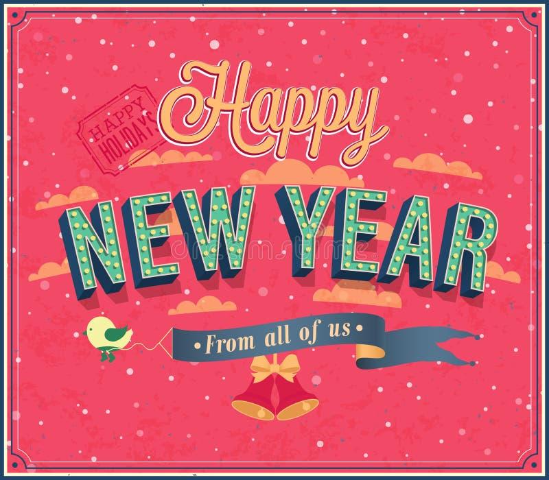 Download New Year Typographic Design. Stock Vector - Image: 34826035