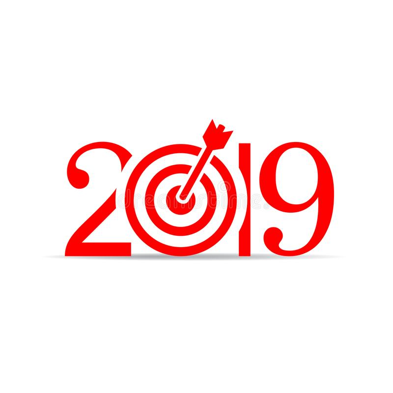 2019 New Year vector icon royalty free illustration