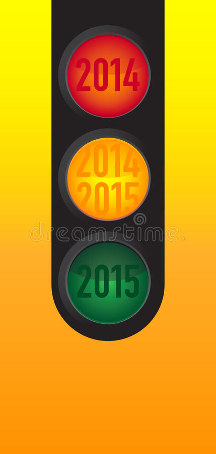 New Year wishes to the traffic light royalty free stock photos