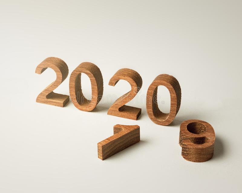 New year 2020 wood number happy new year 2020 concept stock photography