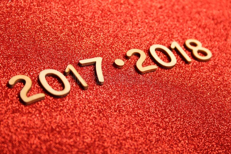 New Year 2017 - 2018 stock image