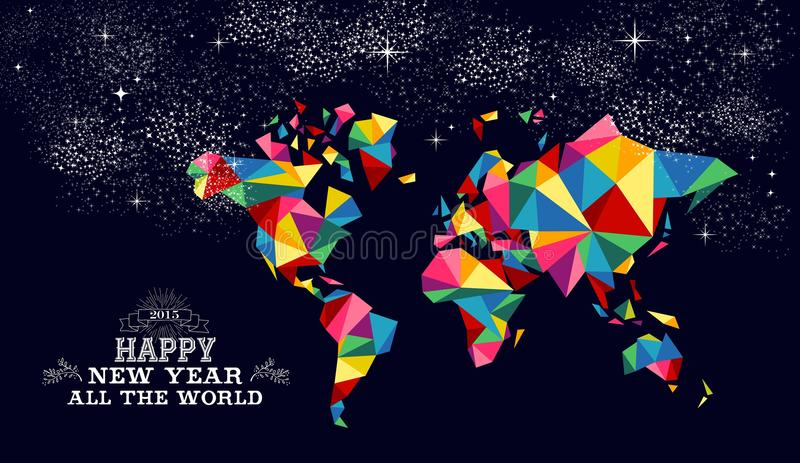 New year 2015 world map card stock vector illustration 48164984 download new year 2015 world map card stock vector illustration 48164984 gumiabroncs Gallery