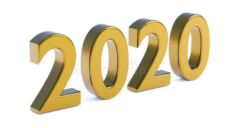 New year 2020 royalty free stock photos