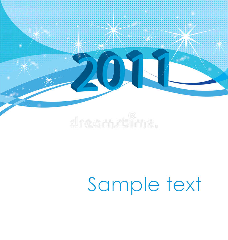 Download New years 2011 stock vector. Illustration of silvester - 14579490