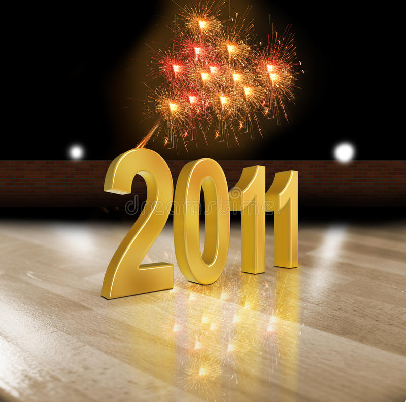 New Years 2011. 3d New Years 2011 background vector illustration