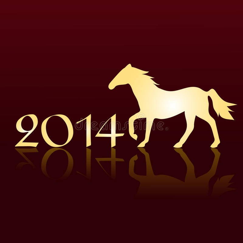 Download New Years Card 2014 With A Horse Stock Vector - Image: 34143328