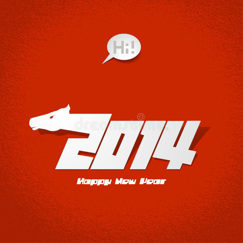 2014: New Years Card, Vector Illustration. Stock Images