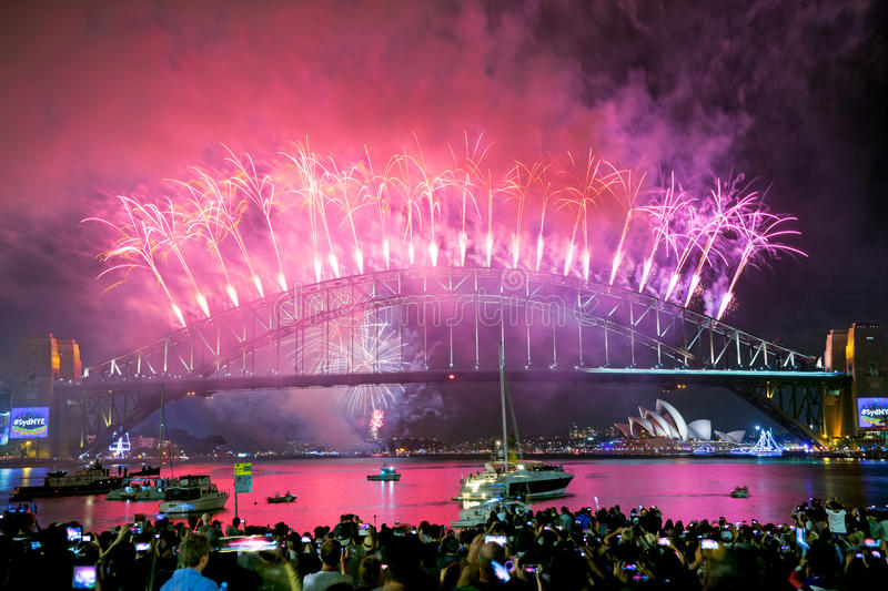 New Years Celebration Sydney Australia stock image