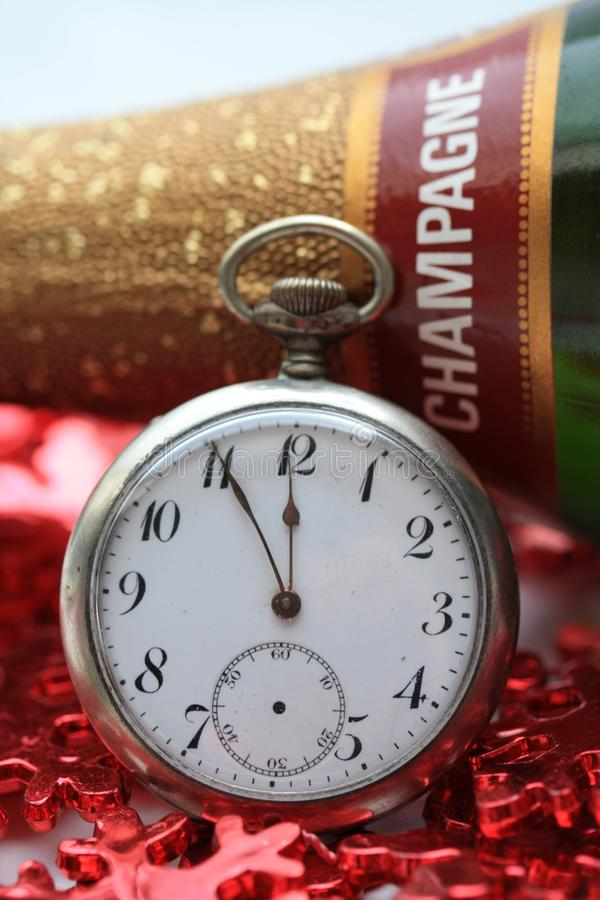 New Years champagne stock photography