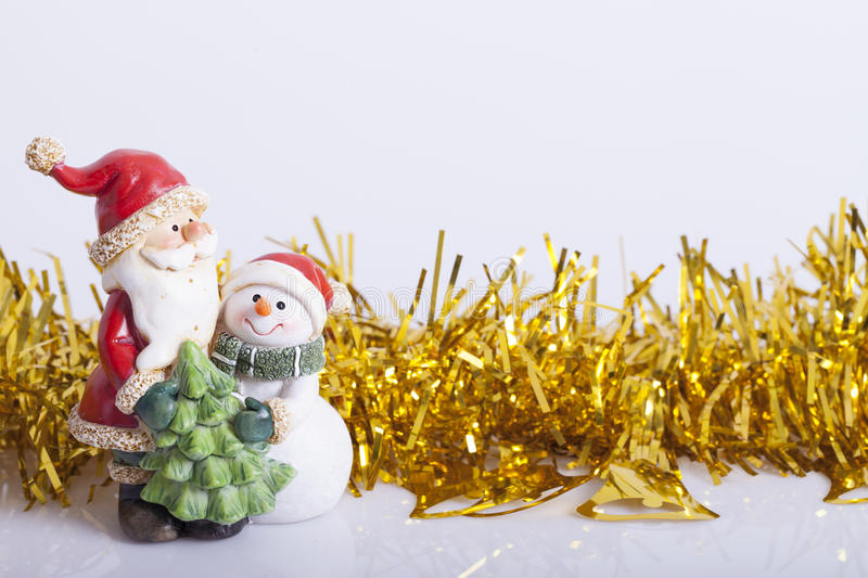 New Years and Christmas decoration. On the table royalty free stock photos