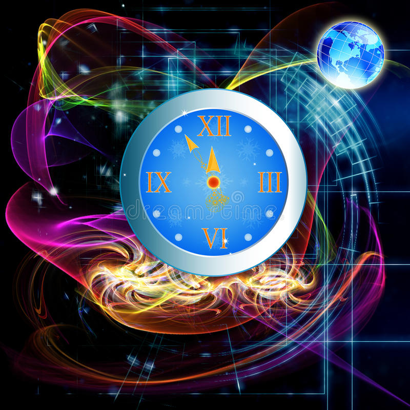 Download New Years clock stock illustration. Illustration of arrows - 28115170