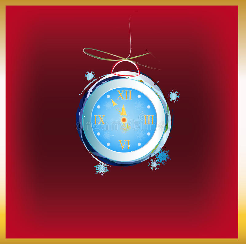 Download New Years clock stock illustration. Illustration of holiday - 28132883