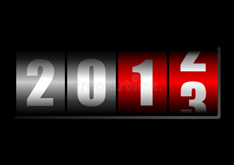 New years counter. On black background vector illustration