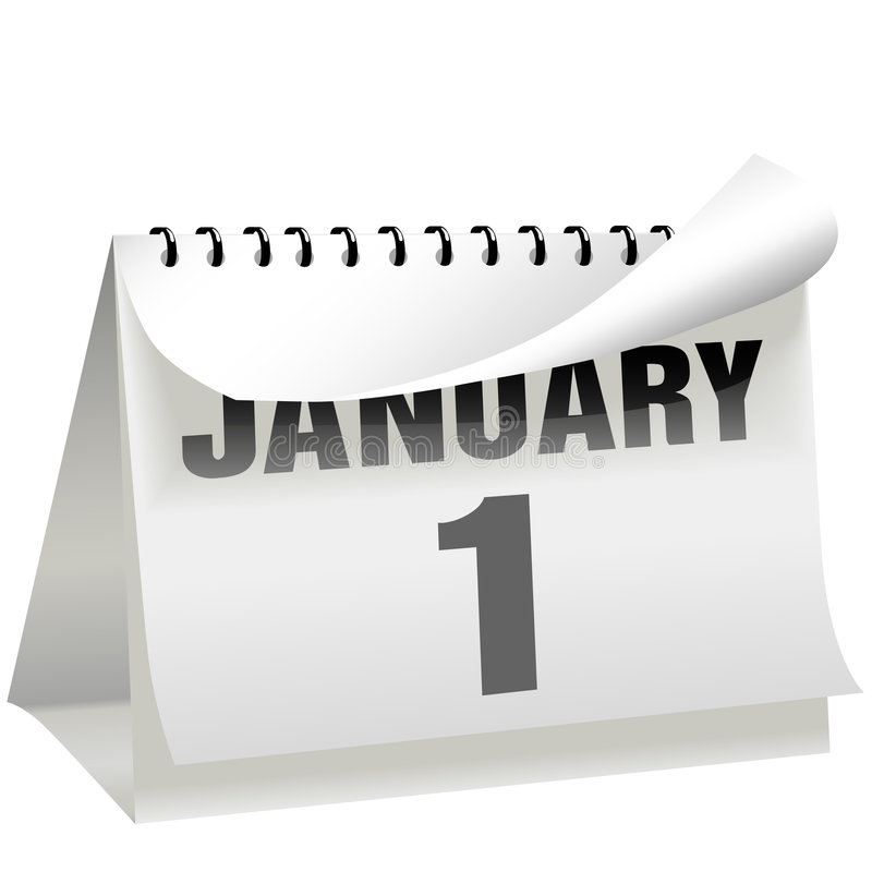 Free New Years Day Calendar Turns Page January 1 Royalty Free Stock Photo - 6757985
