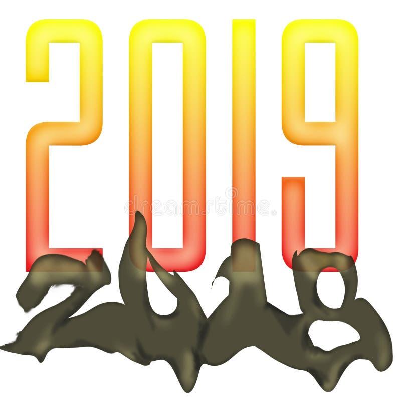 New Years Emerging 2019 stock image