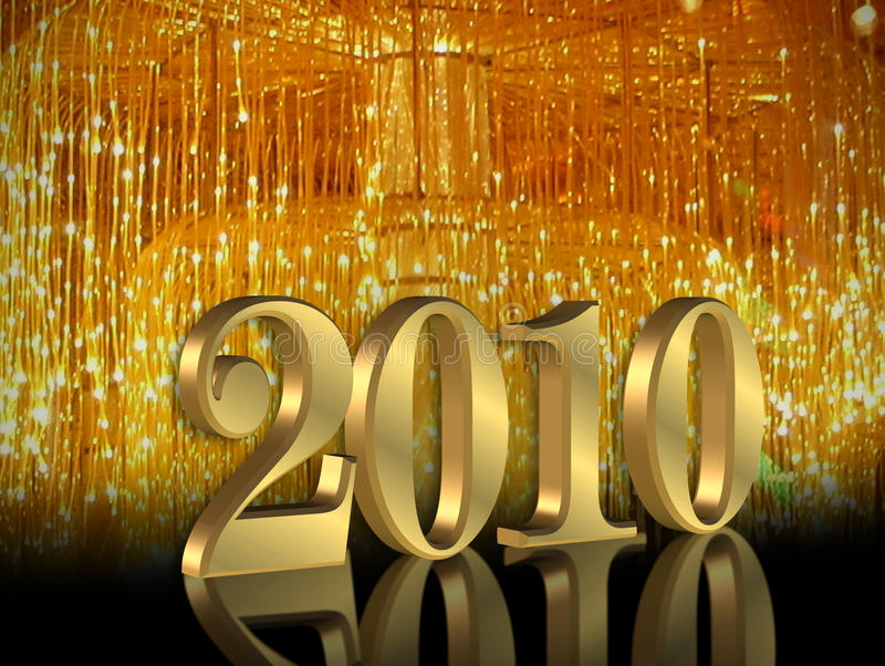 New Years Eve 2010 royalty free stock images