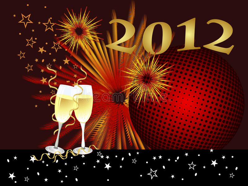 New years eve royalty free illustration