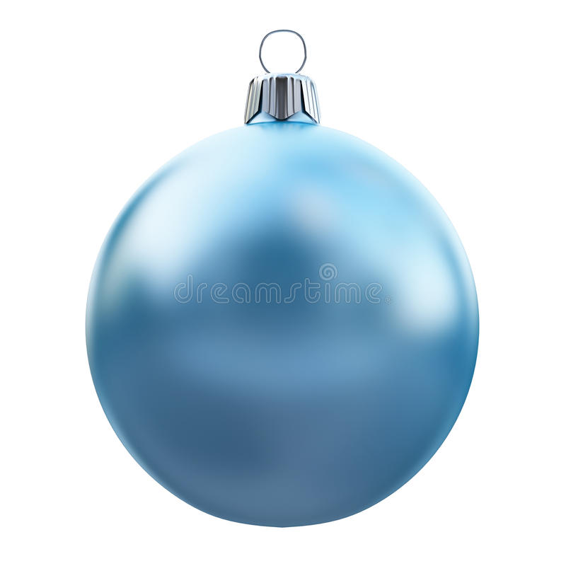 New Years Eve bauble blank. Christmas ball blue. 3d illustration royalty free illustration
