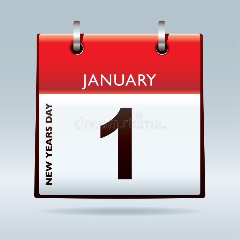 Download New years eve calendar stock vector. Illustration of cardboard - 17529109