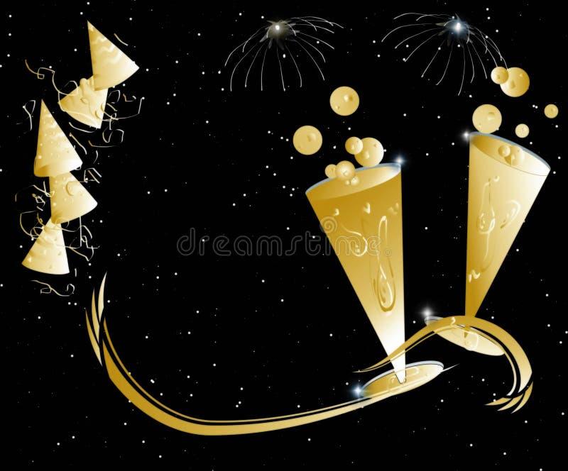 New years eve celebration. New years eve night celebration illustration stock illustration