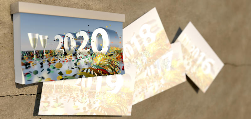 Download 2020 New Years Eve Cover Sheet Stock Photo - Image: 62969622