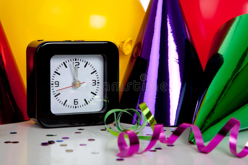 Download New years eve decorations stock image. Image of clock - 11636915