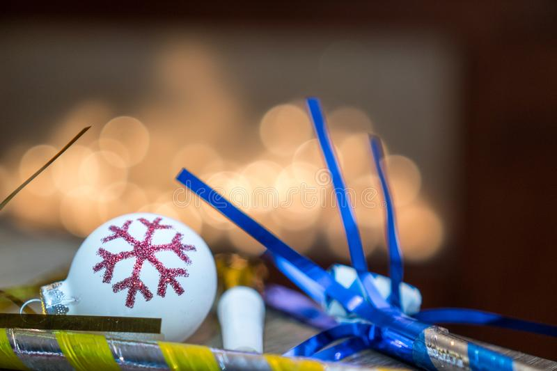 New Years Eve decorations and ornaments royalty free stock photography