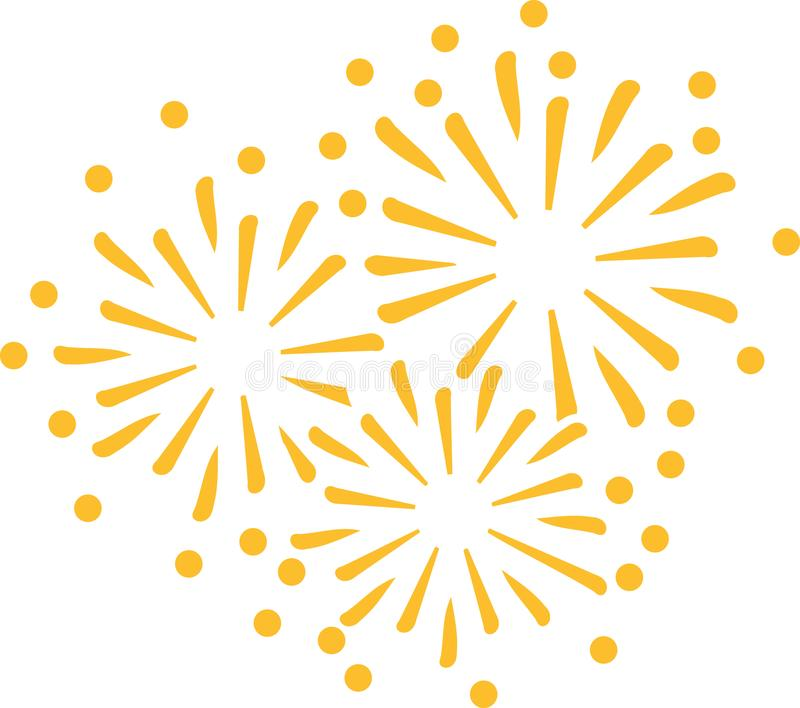 New years eve firework icon. Vector icon stock illustration
