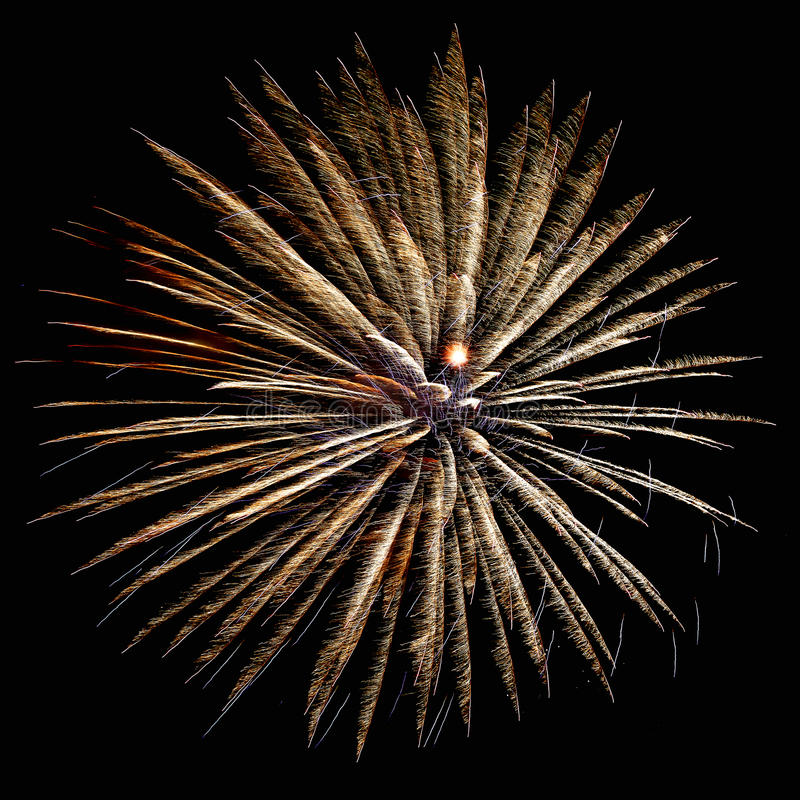 New years eve fireworks. Exploding in the sky at night stock photos