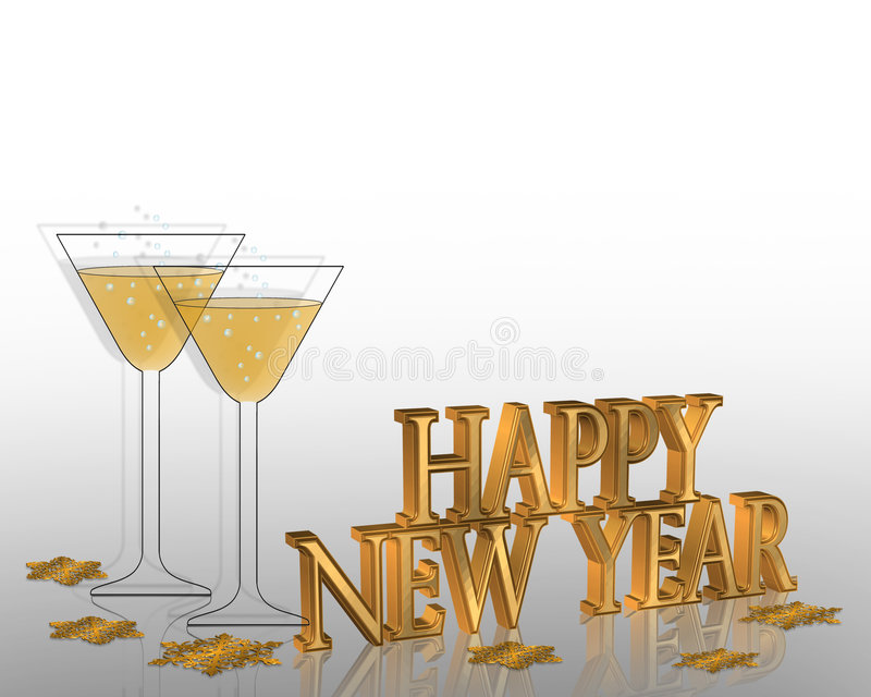 New Years eve invitation Illustration
