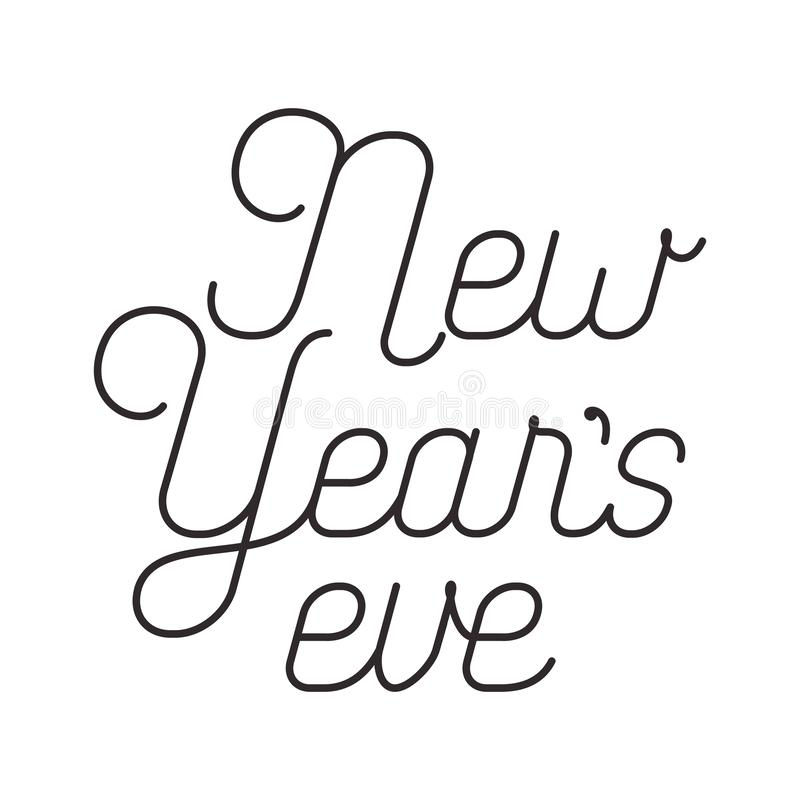 New years eve isolated icon. Vector illustration desing royalty free illustration