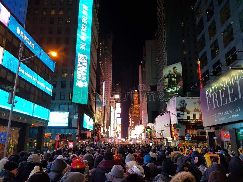 New years eve new york time square new york. New years eve new york  square new york stock image
