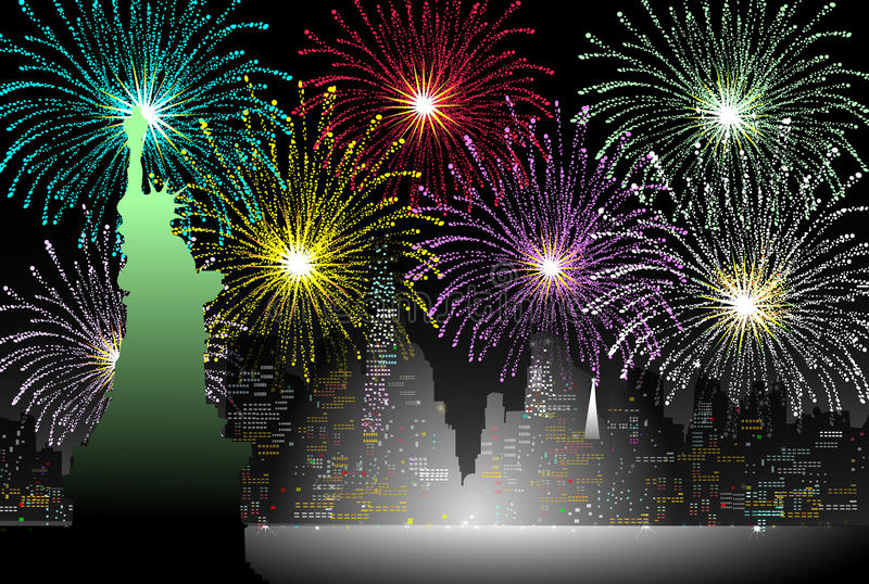New years Eve in New York - Vector. New years Eve in New York is a illustration stock illustration