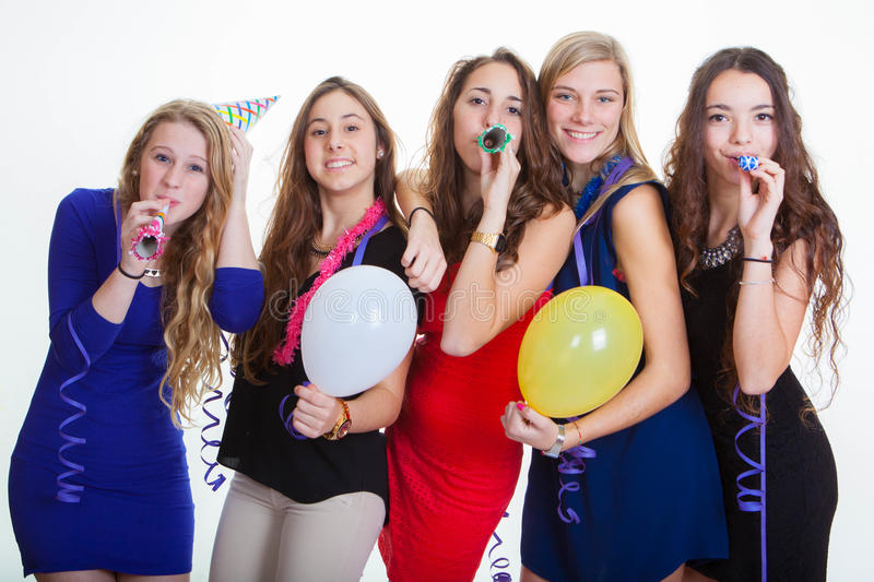 New years eve party celebrations royalty free stock images