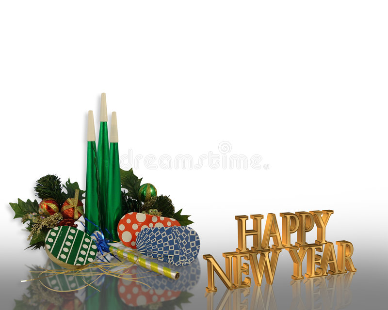 New Years eve party Invitation stock photography