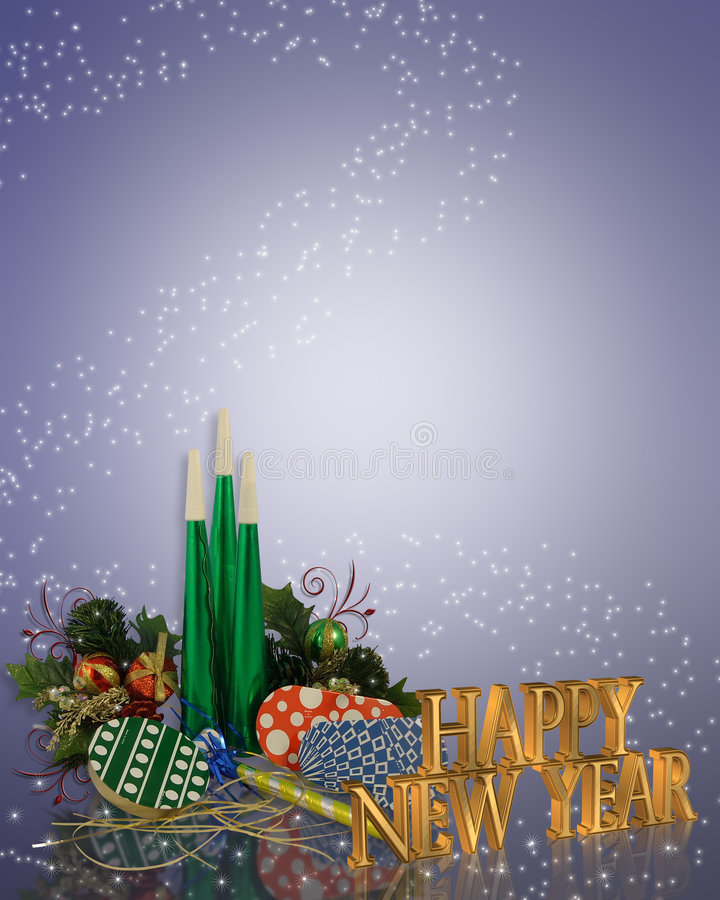 New Years eve party Invitation stock images