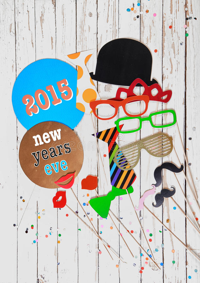 2015 New Years Eve photo booth party royalty free stock photography