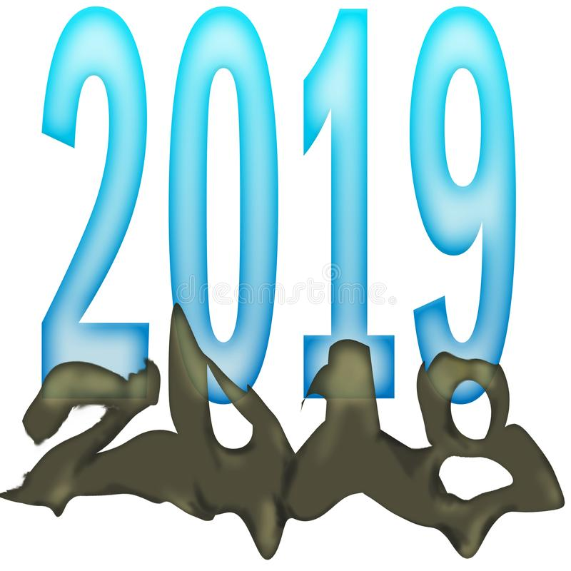 New Years Emerging 2019 royalty free stock photo