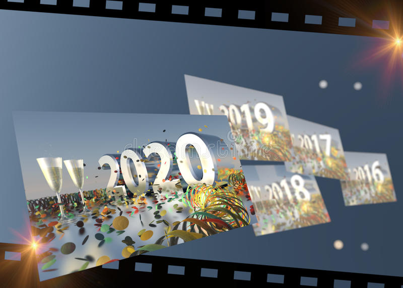 Download 2016 - 2020 New Years Eve Timeline Stock Photo - Image: 62974512