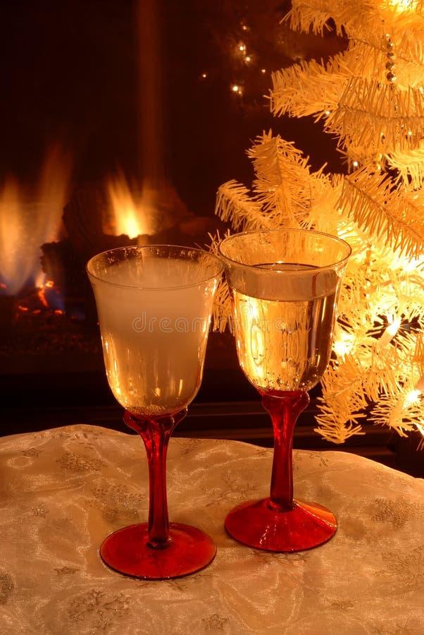New Years Eve Toast stock photo