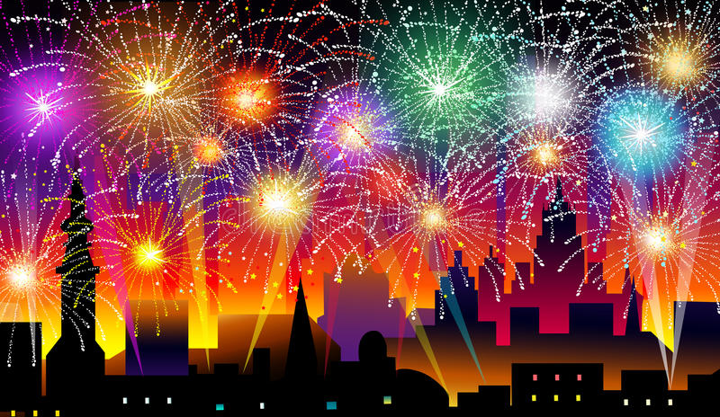 New Years Eve-Vector Illustration royalty free illustration